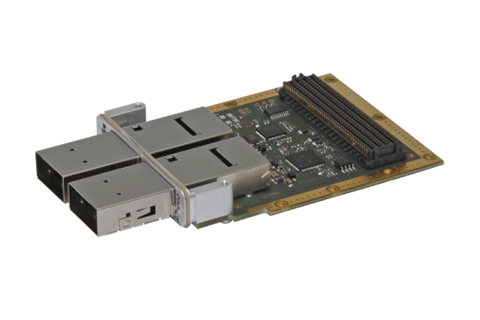 IC-QSFP-FMCa - FPGA Mezzanine Card with two QSFP+